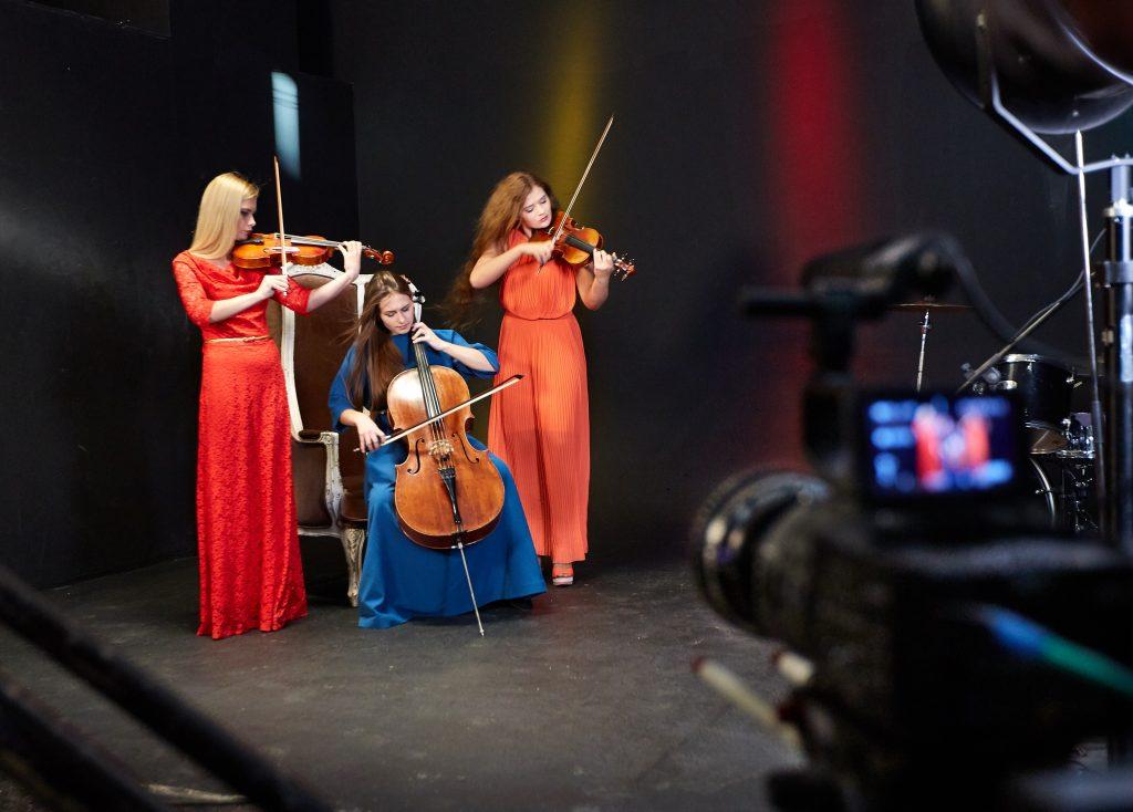 Съёмка видеоклипов - оркестр