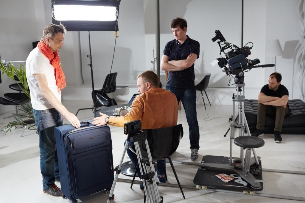 Съёмка рекламы в студии