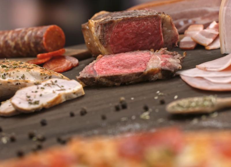 Фуд-съёмка мясные продукты