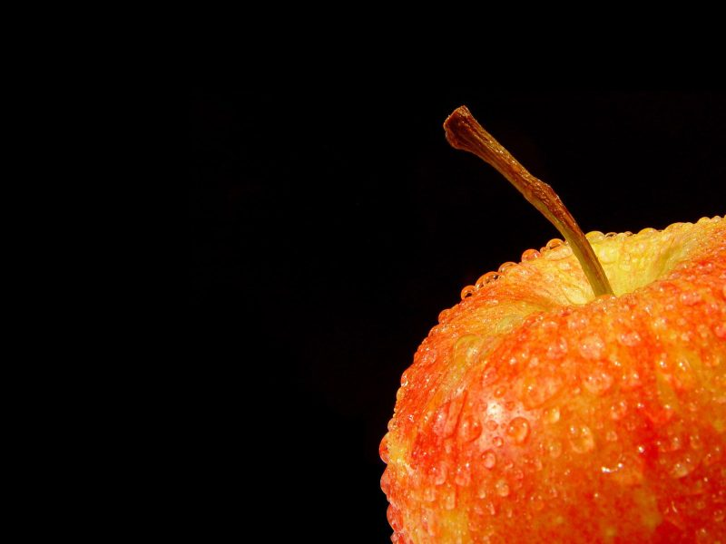 Фуд-съёмка яблоко