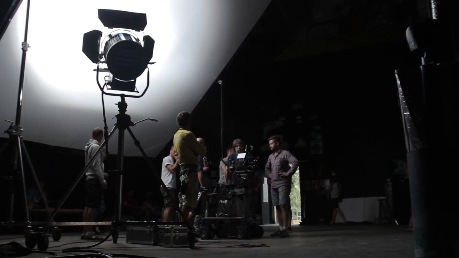 Съёмочная группа на площадке