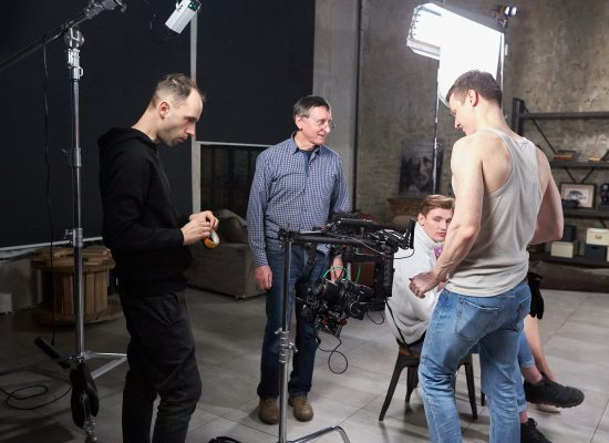 Наша команда на съёмках