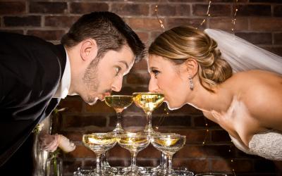 свадебное фото бокалы